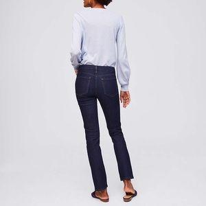 [LOFT] Modern Straight Jeans in Dark Rinse